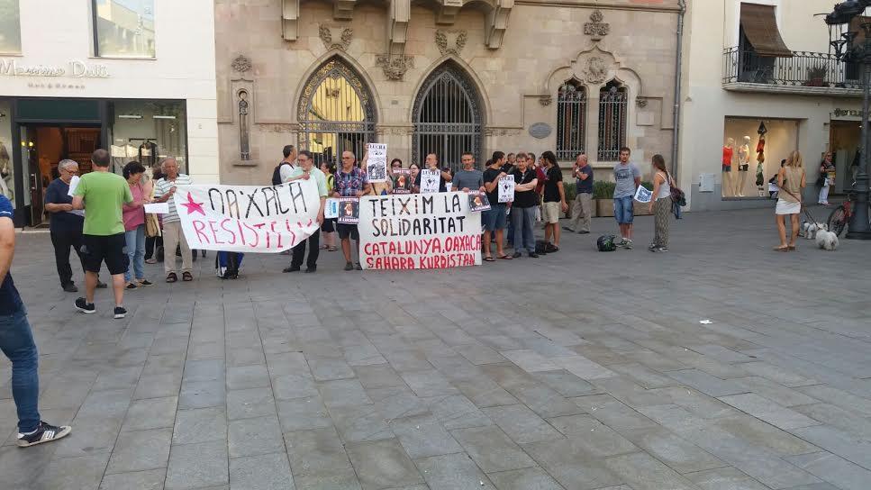 [Granollers] Crònica de la concentració en suport al poble d'Oaxaca