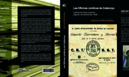 """[Cultura] Novetat editorial """"Las Oficinas Jurídicas de Catalunya. Justicia durante la guerra  (agosto -noviembre de 1936)"""""""