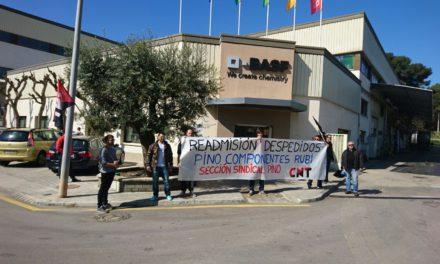 [Sindical] La gerència de Pino Componentes no readmet als sindicalistes acomiadats