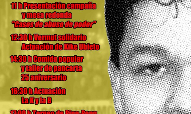 [Memòria] Primera jornada en memòria de Pedro Álvarez