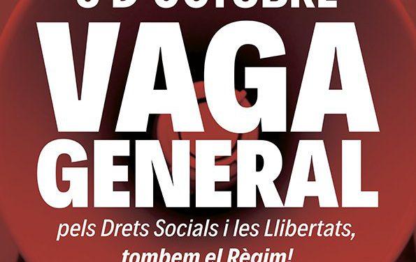 CNT davant la convocatòria de vaga general a Catalunya