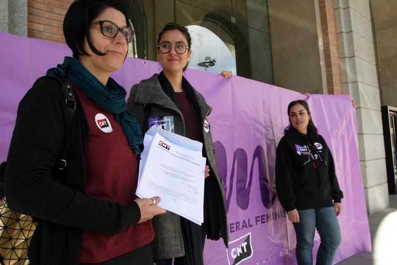 La CNT ha formalitzat avui la convocatòria de vaga general per el 8 de març