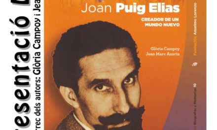 [Cultura] Presentació del llibre Joan Puig Elias. Creador de un mundo nuevo.
